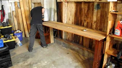 diy     homemade wood workbench  youtube
