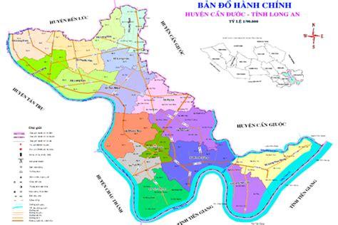 Bản đồ Hành Chính Và Quy Hoạch Huyện Cần Đước