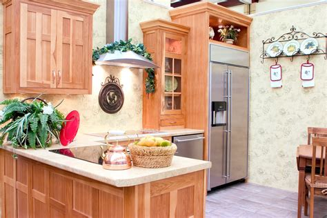 hickory wood cabinets kitchens hickory kitchens wood hollow cabinets 4200