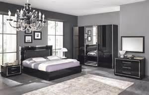 Armoire De Rangement Pour Chambre à Coucher by Chambre Adulte Compl 232 Te Design Stef Coloris Noir Laqu 233