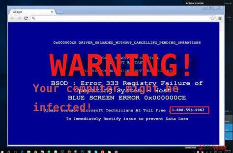 virus detected warning been w32 windows remove computer message