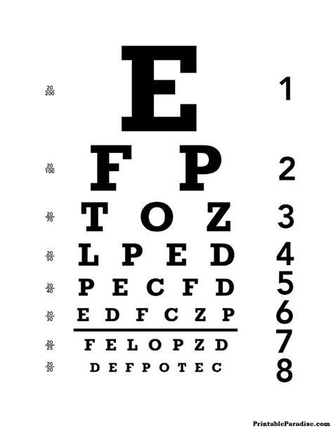 printable eye chart print   eyechart