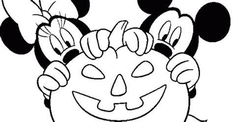 mickey  minnie  pumpkin halloween coloring pages