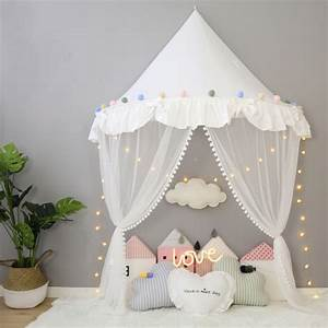 Tipi Bebe Fille : foldable kids tent girl princess teepees for children canopy bed curtains baby room decoration ~ Teatrodelosmanantiales.com Idées de Décoration
