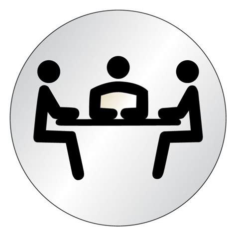 le bureau laiton plaque salle de réunion picto lnox stocksignes