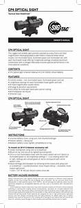 Cp4 Prismatic Scope Instructions