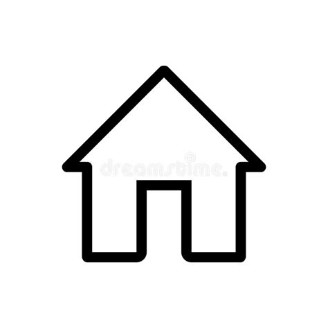 home icon black and white house vector icon black and white home illustration