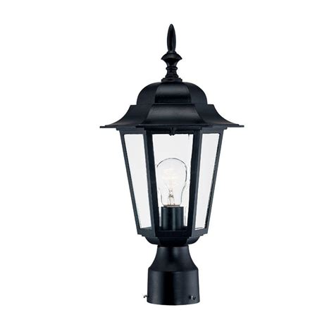 acclaim lighting 1 light matte black outdoor post