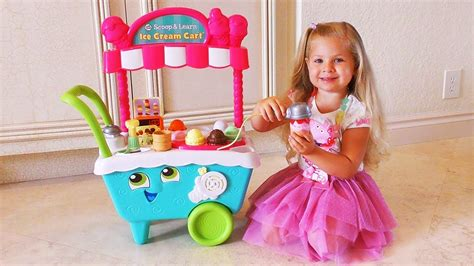 Diana Pretend Play Food And Learn Colors With Ice Cream