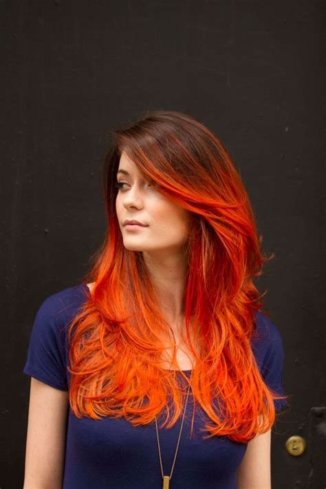 22 Fiery Red Ombre Hair Color Ideas
