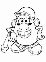 Potato Coloring Head Pages Mr Printable Cartoon Recommended Cartoons sketch template