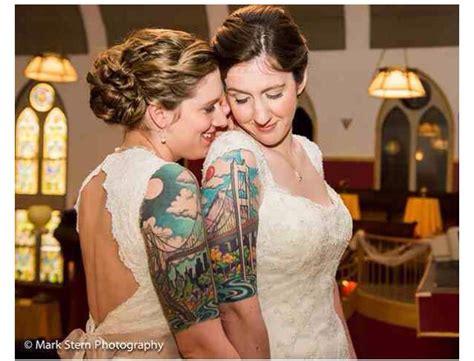 lesbian tattoos couple matching love tatts couple