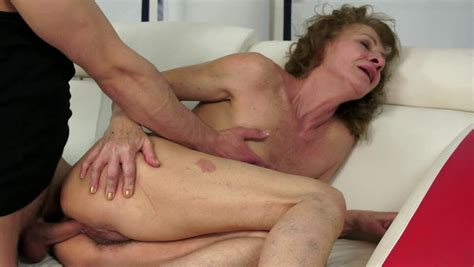 A Hairy Granny That Loves Young Cock Is Getting Fucked