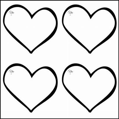Heart Template Templates Printable Stencils Hearts Valentine