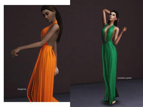 chromatic long dress  kokoamilk  tsr sims  updates