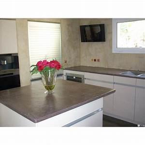 beton cire plan de travail cuisine castorama maison With beton cire plan de travail cuisine castorama