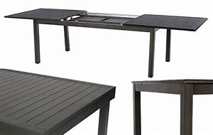 Table De Jardin Extensible 12 Places : table de jardin extensible effet bois hesperide azua 8 12 places ~ Teatrodelosmanantiales.com Idées de Décoration