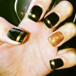 Gold and black nail designs simple you can