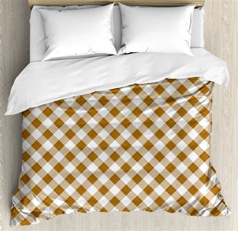 Brown Patterned Duvet Cover by Brown Duvet Cover Set Texture Of Tartan Cloth Pattern