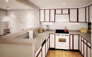 savvy small apartment kitchen design layout for perfect With kitchen colors with white cabinets with wall art for man s apartment