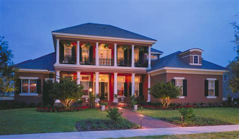 southern colonial   story balcony cl architectural designs house plans