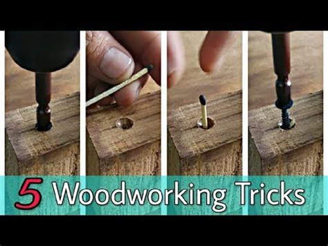 woodworking tricks tips youtube