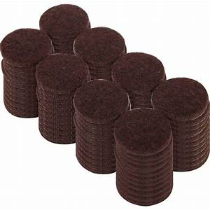 Everbilt 1 in heavy duty brown self adhesive felt pads for Furniture leg pads home depot