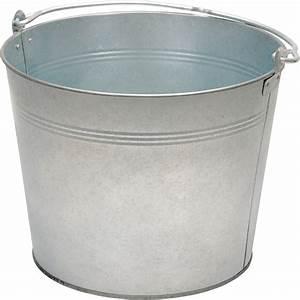 Vestil, Galvanized, Steel, Bucket, U2014, 3, 1, 4, Gallons, 28