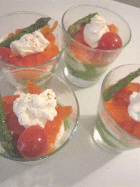 fum馥 liquide cuisine verrine mousse d 39 asperges mascarpone et saumon fume la cuisine de christiane