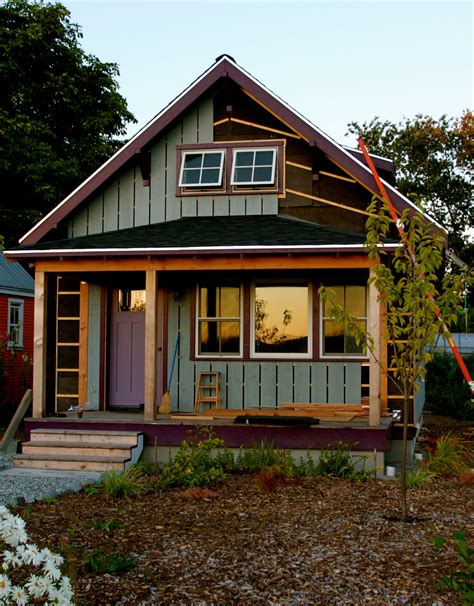 small bungalow beekeeper s bungalow update more siding the small house catalog