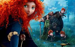 brave princess merida movie red haired archer disney ...