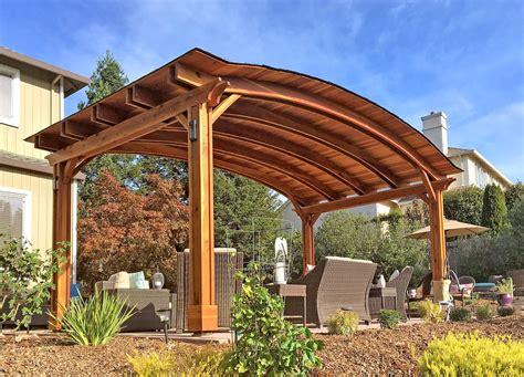 Pavilion Plans Backyard by Backyard Pavilion Kits Custom Redwood Pavilion For Sale