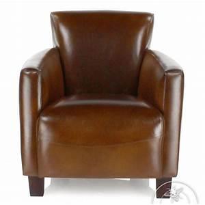 Fauteuil Cuir Marron Vintage : fauteuil club cuir marron vintage alma saulaie ~ Teatrodelosmanantiales.com Idées de Décoration