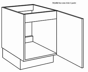 Meuble Bas Four Plaque : meuble cuisine sous evier 60 cm table de lit ~ Teatrodelosmanantiales.com Idées de Décoration