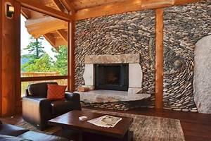 Wohnzimmer Wand Steine : wand deko steine verlegen verschiedene ideen f r die raumgestaltung inspiration ~ Sanjose-hotels-ca.com Haus und Dekorationen