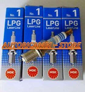 lpg1 kit 4 candele lpg1 marca ngk laser line adatte impianti a gas metano gpl ebay
