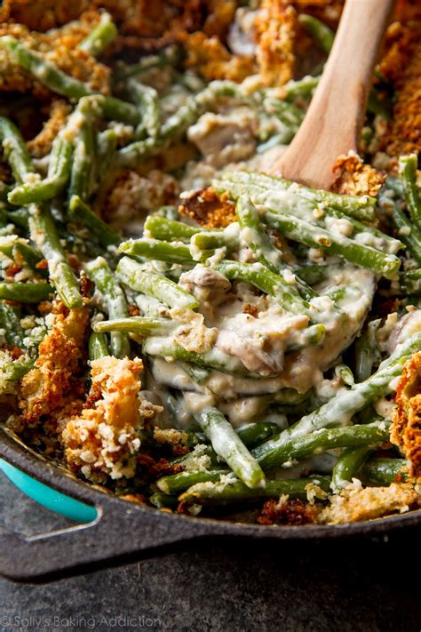 creamy green bean casserole  scratch sallys baking