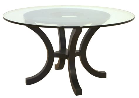 black table base for glass top furniture round glass dining table with curved metal base