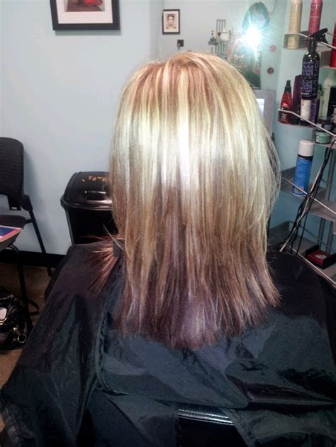 Blonde Hilites With Browncopper Lowlites And Burgendy