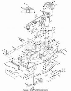 Mtd 14aq81gk897  2009  Parts Diagram For Mower Deck 54 Inch
