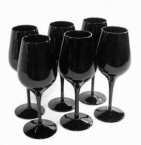 Verre A Vin Noir : verre a vin plastique carrefour ~ Teatrodelosmanantiales.com Idées de Décoration