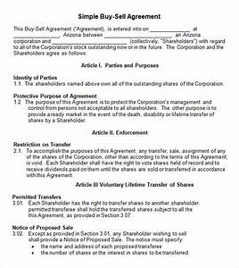 17 sample buy sell agreement templates sample templates for Buy sell agreements templates