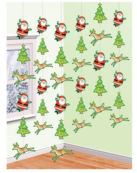 santa reindeer christmas tree hanging strings