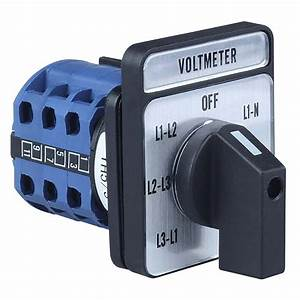 Yh5  3 Voltage Panel Voltmeter Selector Switch With 7
