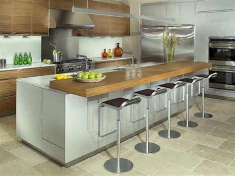 table coulissante cuisine inspirations 5 cuisines avec table intégrée joli place