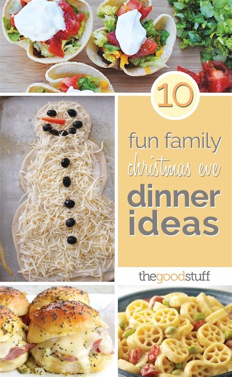 When it comes to the main course, christmas calls for something special. 10 Fun Family Christmas Eve Dinner Ideas - thegoodstuff