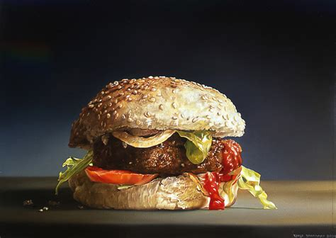 hyper cuisine painting photorealistic painters hyper
