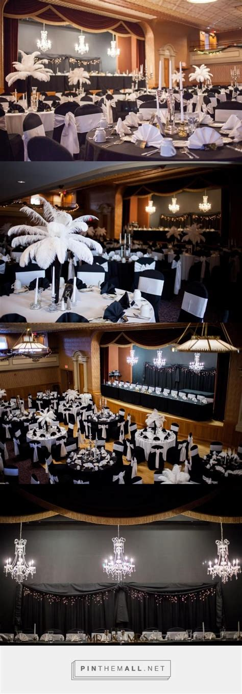 Great Gatsby Wedding Art Deco style arranged in the