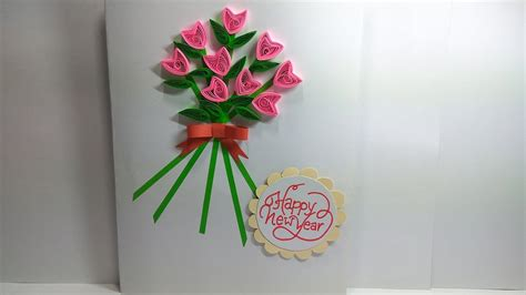 diy easy quilled greeting card magic quill youtube