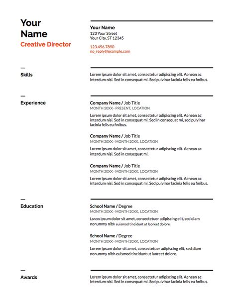 Chronological Resume Doc by Our 5 Favorite Docs Resume Templates